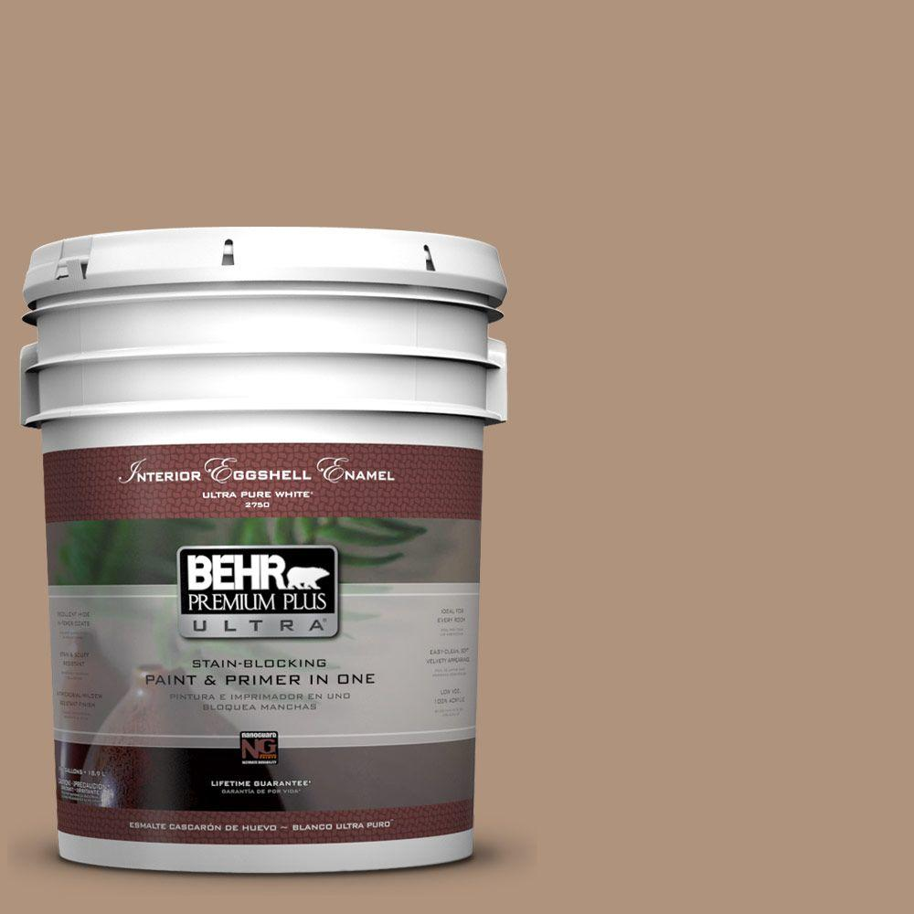 BEHR Premium Plus Ultra 5-gal. #PPU4-4 Soft Chamois Eggshell Enamel Interior Paint
