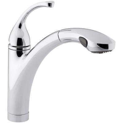 Forte Single-Handle Pull-Out Sprayer Kitchen Faucet With MasterClean Spray Face in Polished Chrome