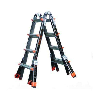 Dark Horse 17 ft. Fiberglass Multi-Position Ladder with 300 lb. Load Capacity Type 1A Duty Rating