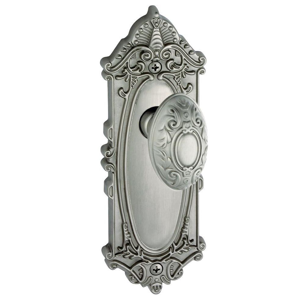 Grandeur Grande Victorian Satin Nickel Plate with Double Dummy Knob