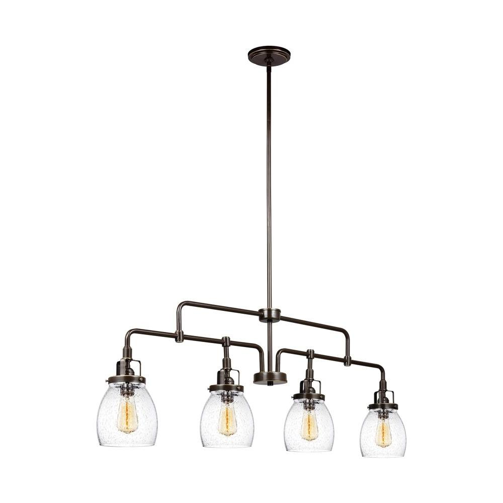 Sea gull lighting belton 4 light heirloom bronze kitchen for Island kitchen lighting fixtures