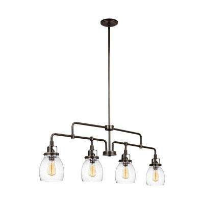 Belton 40.75 in. W. 4-Light Heirloom Bronze Kitchen Island Lights