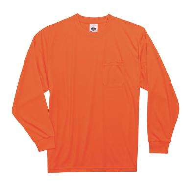 Large Hi Vis Orange Long Sleeve T-Shirt