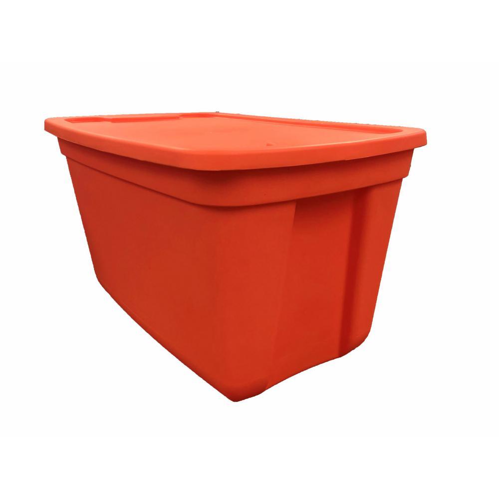 20 Gal. Storage Tote in Auburn Orange