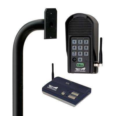 Keypad Mounting Post, Wireless Intercom and Digital Keypad Kit for Gate Openers