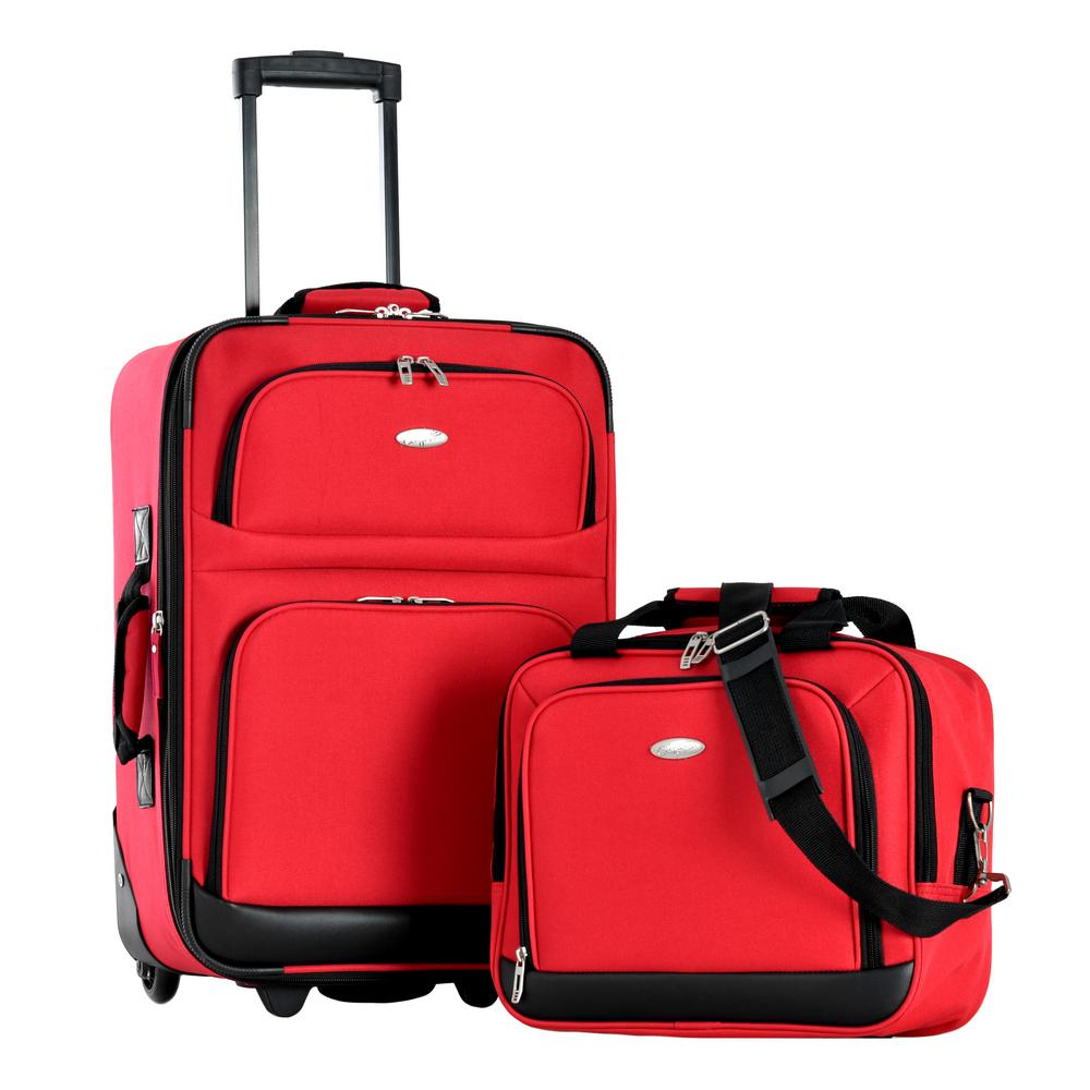 2d5a332dc152 Olympia USA LET S TRAVEL 2-Piece Carry-On Luggage Set