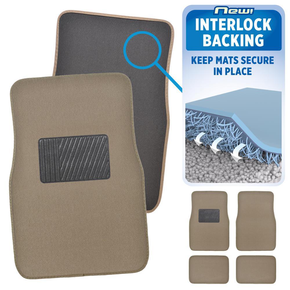 Motor trend matlock mt 120 medium beige carpet with non for Motor trend floor mats review