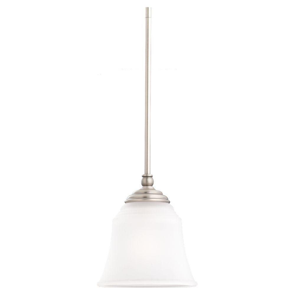Lovely Sea Gull Lighting Parkview 1 Light Antique Brushed Nickel Mini Pendant