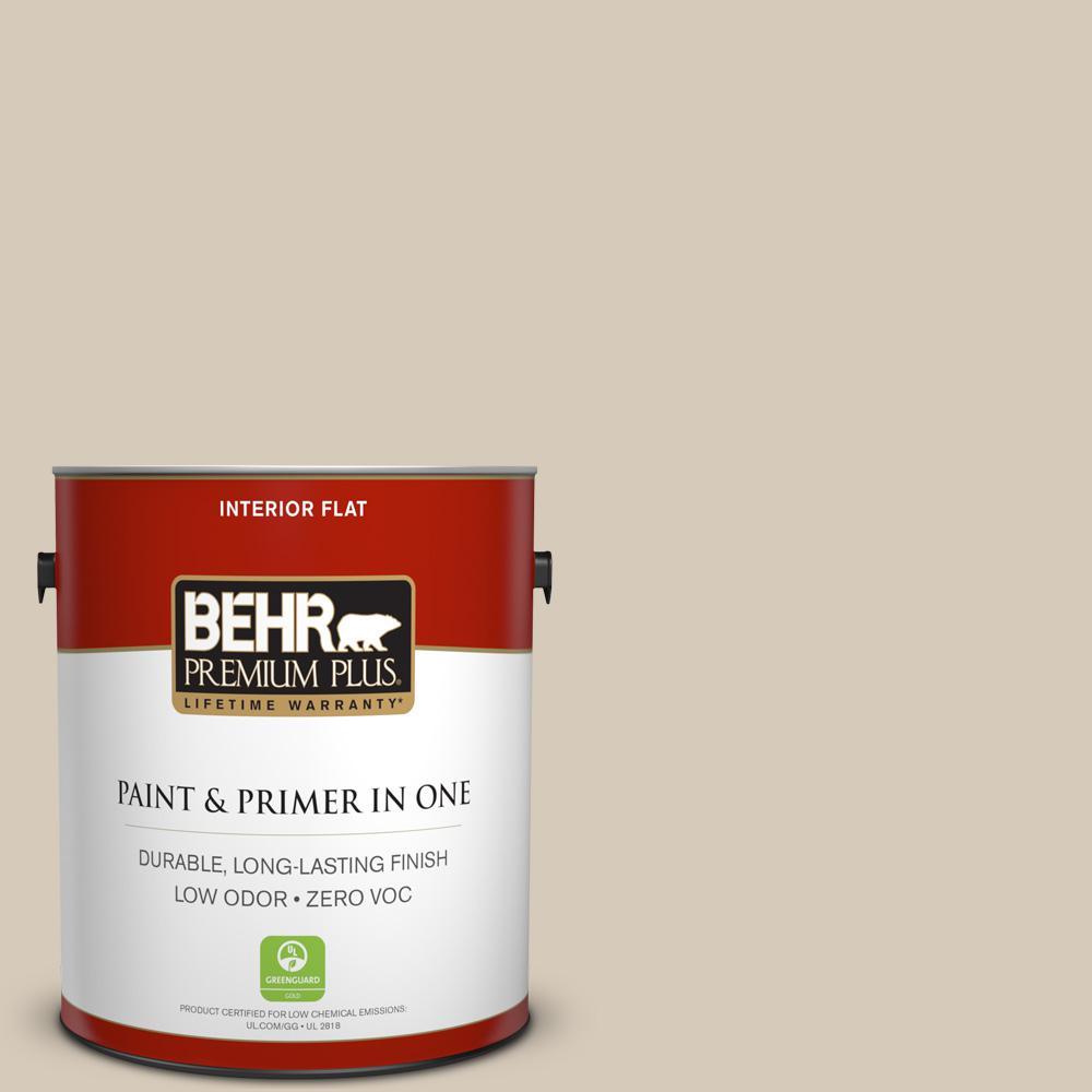 1 gal. #PPU5-12 Almond Wisp Zero VOC Flat Interior Paint