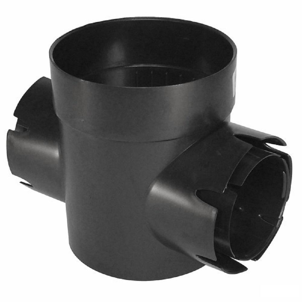 NDS 6 in. Spee-D Double-Outlet Drainage Catch Basin