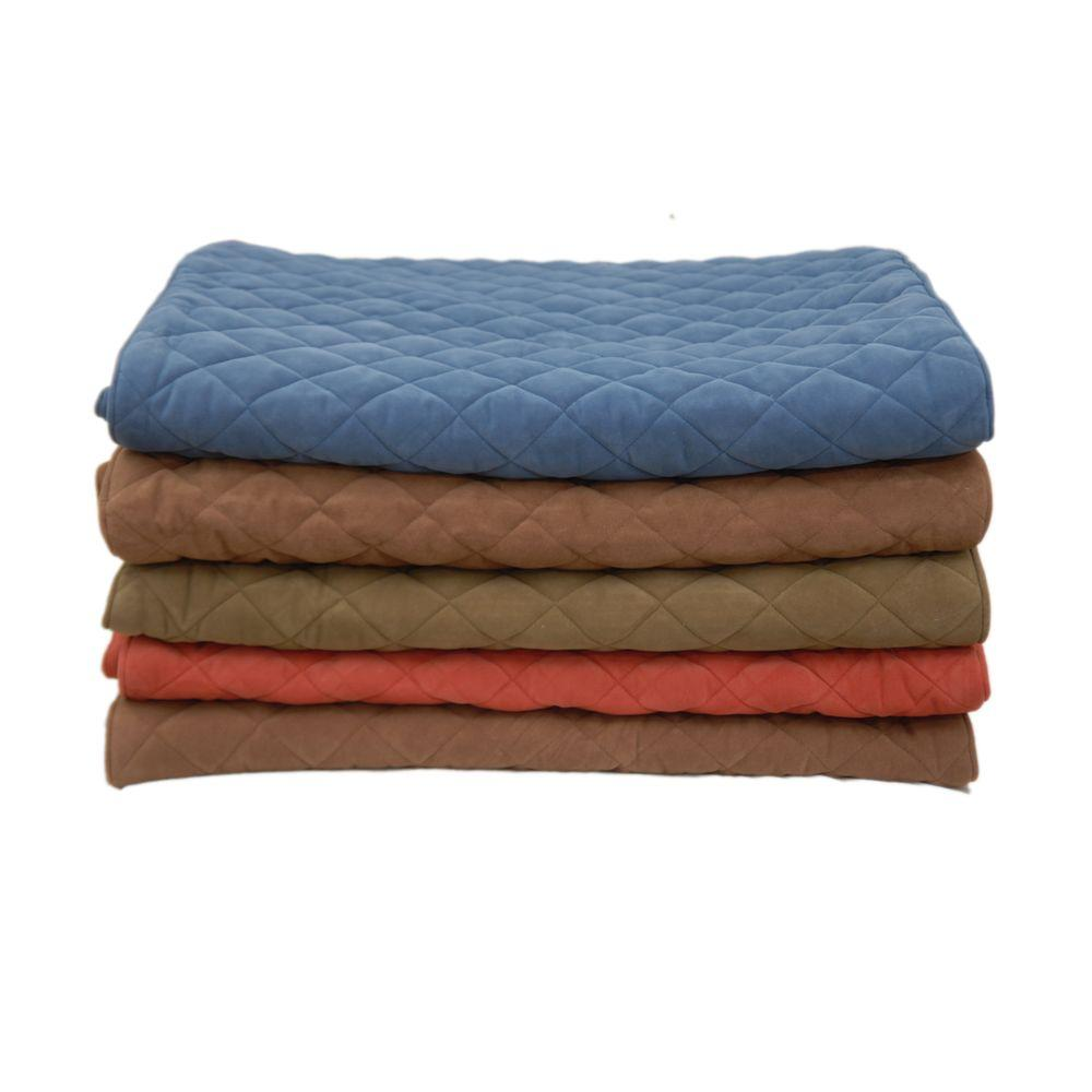null Large Quilted Bed Scarf - Blue-DISCONTINUED