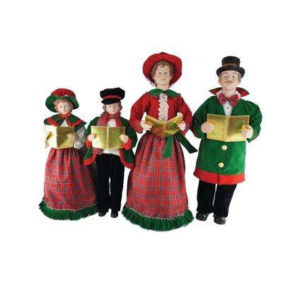 27 in. to 37 in. Christmas Day Carolers with Songbooks (4-Set)