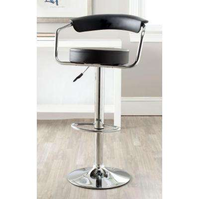 Angus Adjustable Height Chrome Swivel Cushioned Bar Stool