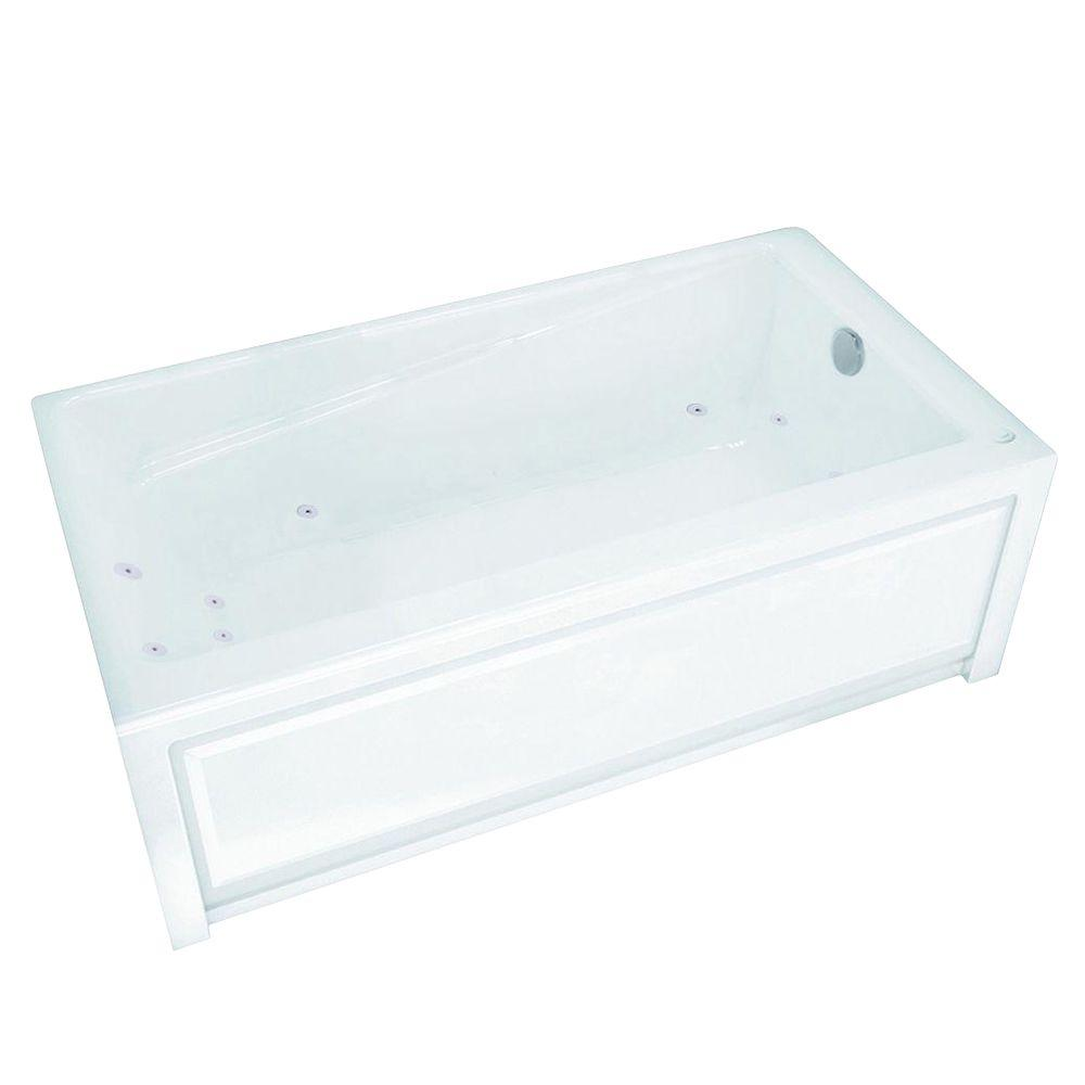 MAAX New Town 60 in. Acrylic Right Drain Rectangular Alcove ...