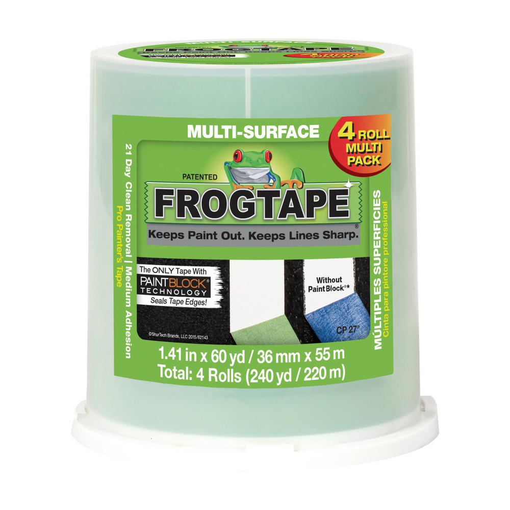Multi-Surface 1.41 in. x 60 yds. Green Painter's Tape with PaintBlock