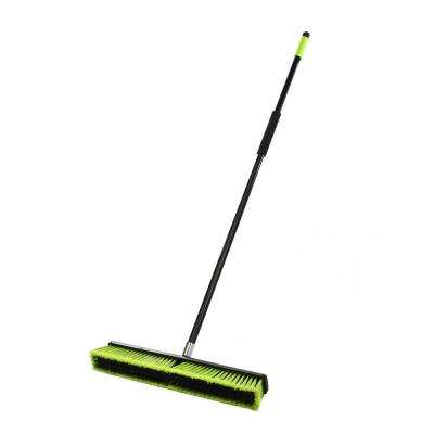 24 in. Green Indoor Multi-Surface 2-in-1 Squeegee Push Broom (3-Pack)