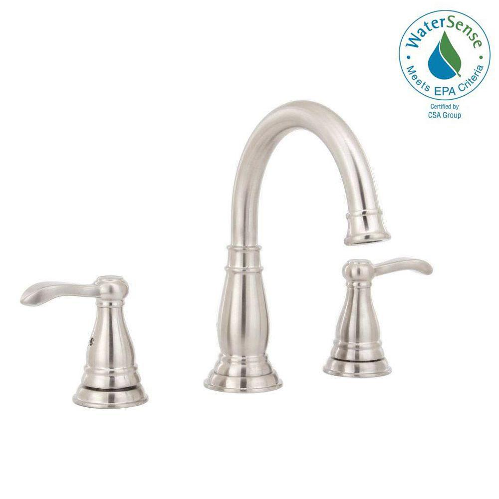Delta Porter 8 in. Widespread 2-Handle Bathroom Faucet in Brushed ...