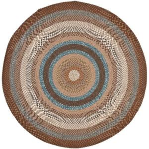 Braided Brown Multi 8 Ft X Round Area Rug