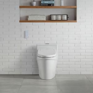 OVE Decors Calero Electric Bidet Seat for Elongated Shape Toilet in White by OVE Decors