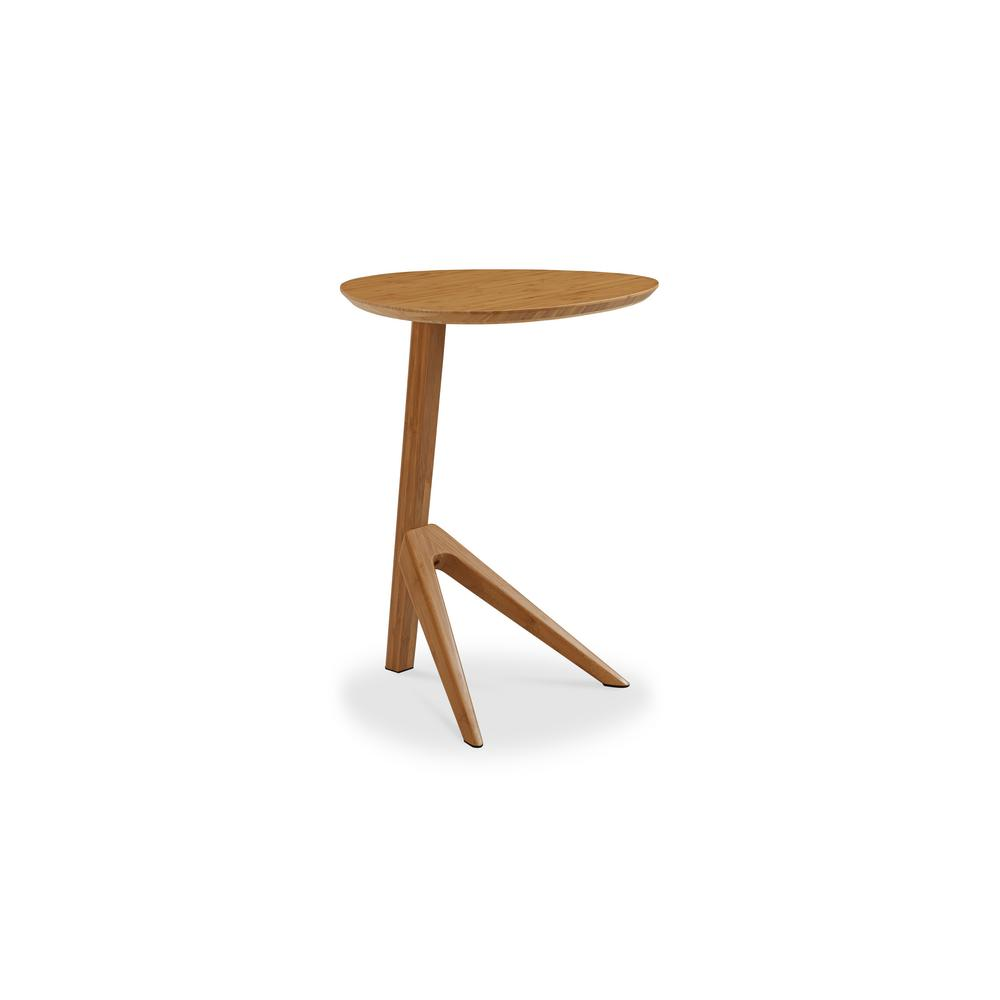 Caramelized 100% Solid Classic Bamboo Side Table