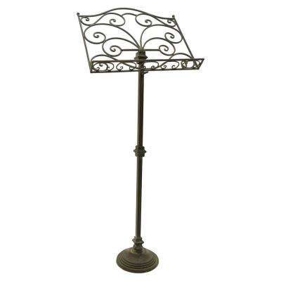 47 in. Black Metal Music Stand