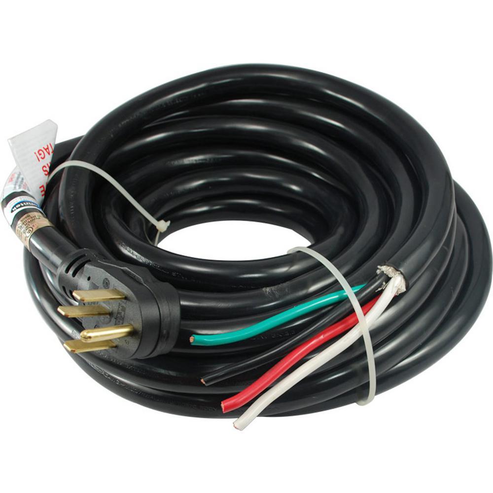 50 ft.6/3+8/1 Heavy Duty Outdoor 50- Amp 125/250-Volt NEMA 14-50P Power Supply Cord