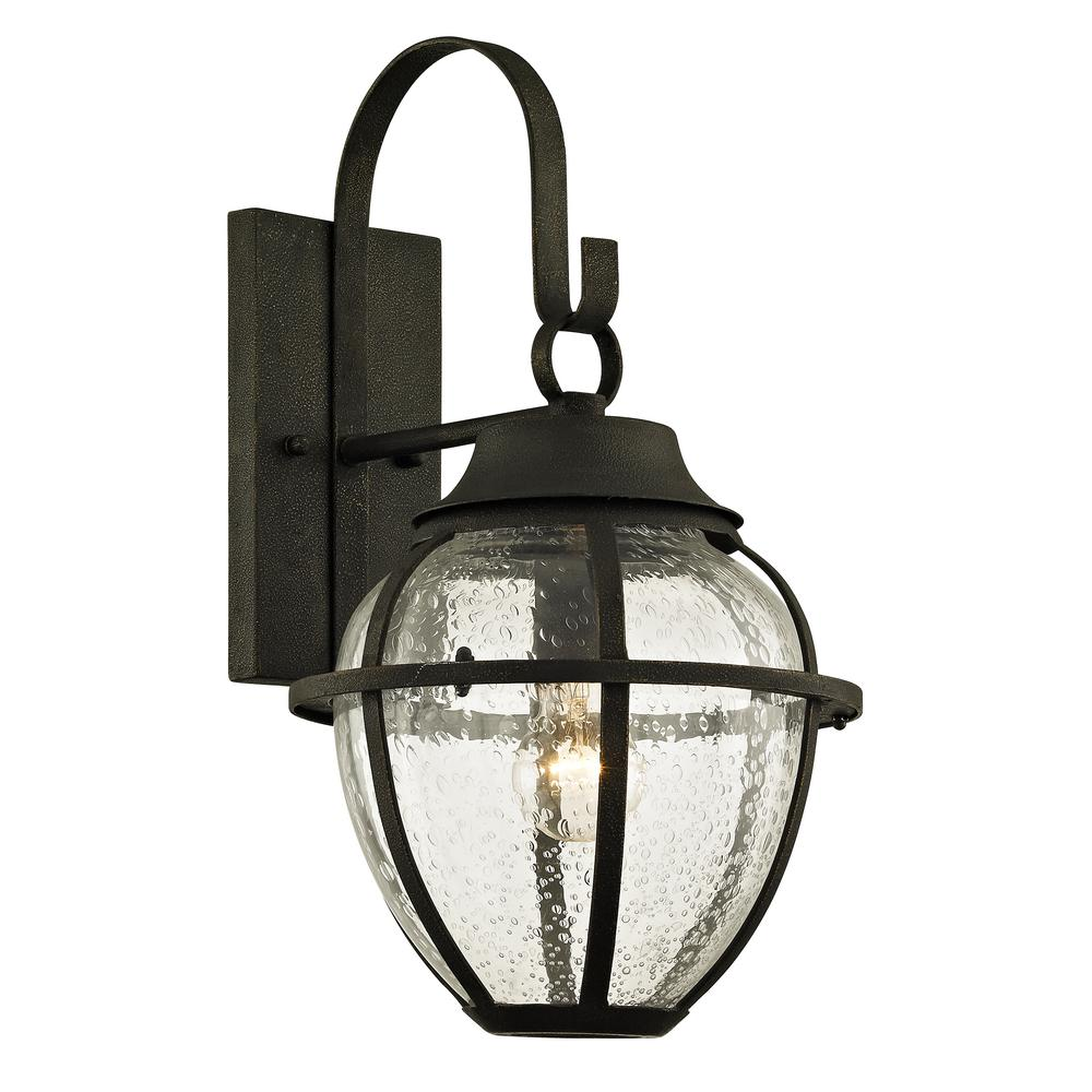 Bunker Hill 1-Light Vintage Bronze 18.25 in. H Outdoor Wall Mount