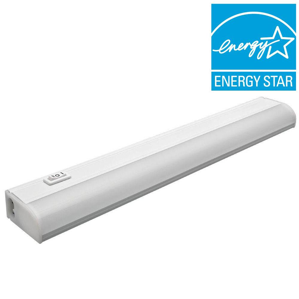 870mm 12 Watt Led Linkable Under Cabinet Light Strip: Commercial Electric 12in LED Undercabinet Plug In Linkable
