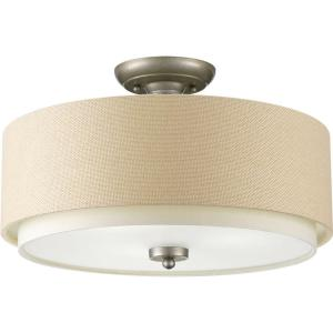 ashbury collection 3light silver ridge - Semi Flush Mount Lighting