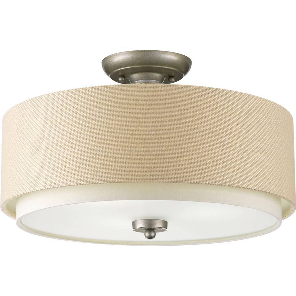gray semi flushmount lights lighting the home depot