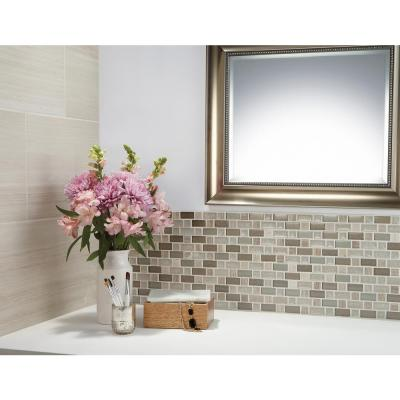Developed by Nature Chenille 12 in. x 12 in. x 8 mm Stone, Glass and Ceramic Mosaic Tile (0.99 sq. ft. / piece)
