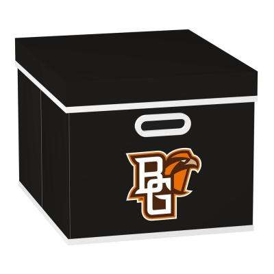 College STACKITS Bowling Green State University 12 in. x 10 in. x 15 in. Stackable Black Fabric Storage Cube