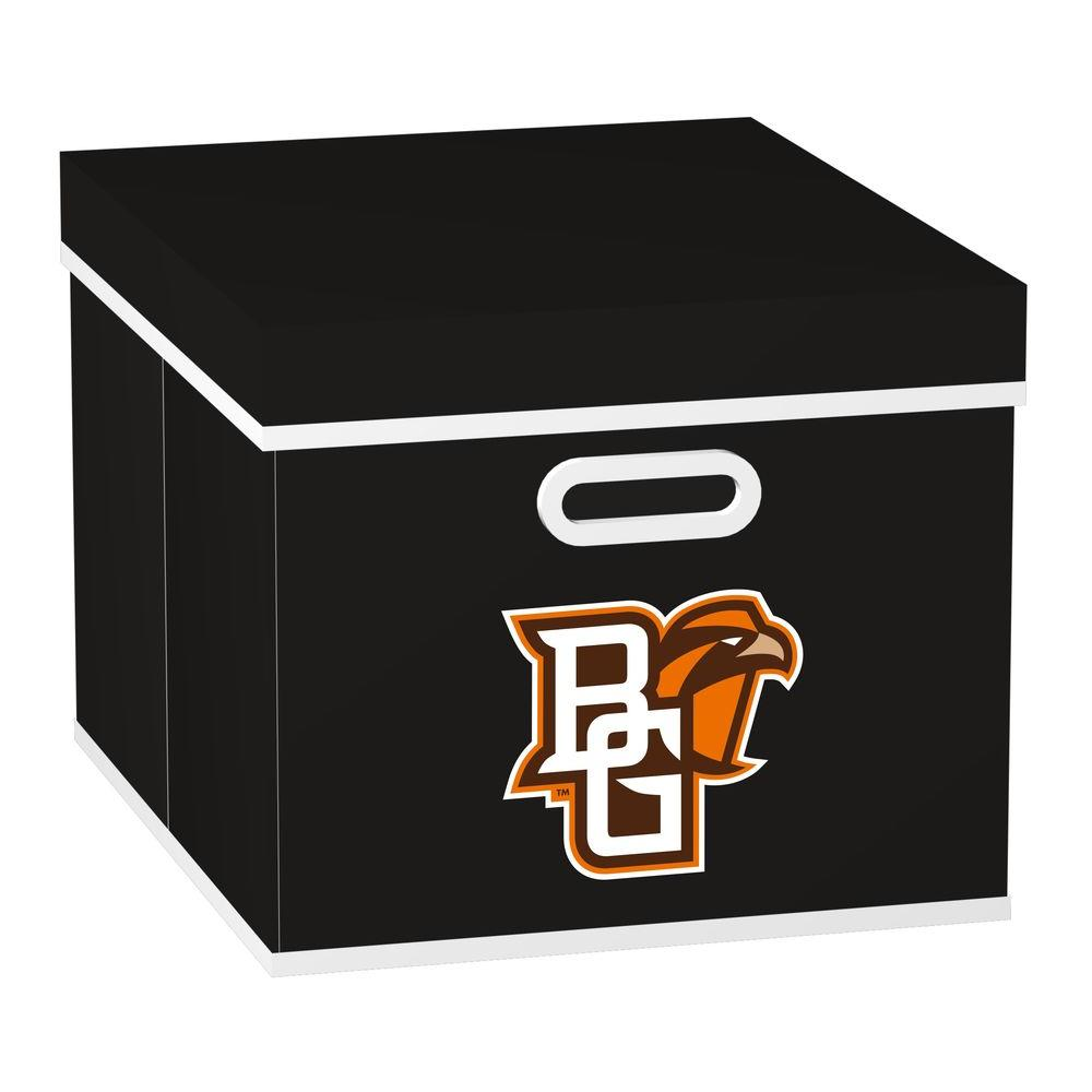 MyOwnersBox College STACKITS Bowling Green State University 12 in. x 10 in. x 15 in. Stackable Black Fabric Storage Cube