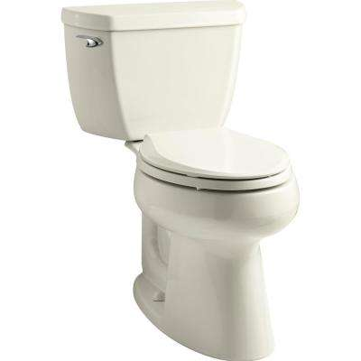 Highline Classic 2-Piece 1.0 GPF Single Flush Elongated Toilet in Biscuit