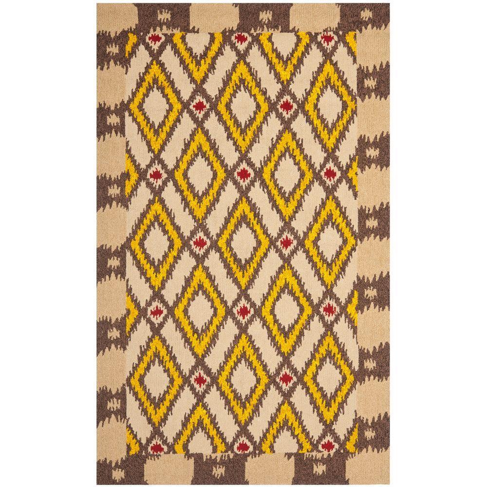 Safavieh Four Seasons Beige/Yellow 5 ft. x 8 ft. Area Rug