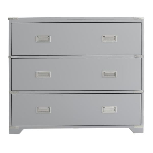 Accentrics Home Grey Campaign Style Drawer Chest DS-D194-002