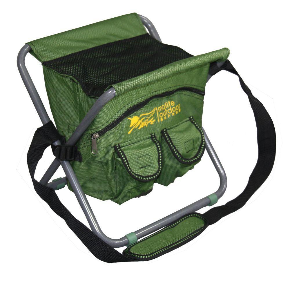 13 in., 8.5 qt. Messenger Portable Green Bag Cooler Chair