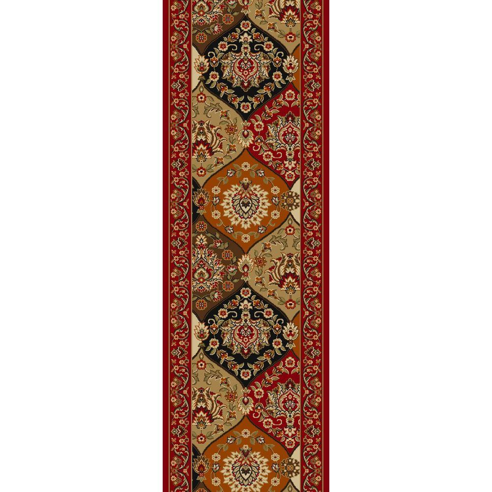 Well Woven Kings Court Persian Vines Red 2 ft. x 6 ft. 10 in. Traditional Panel Runner