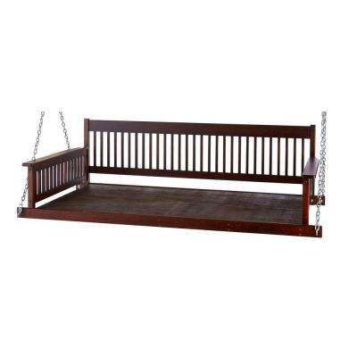 Plantation 2-Person Daybed Wooden Porch Patio Swing