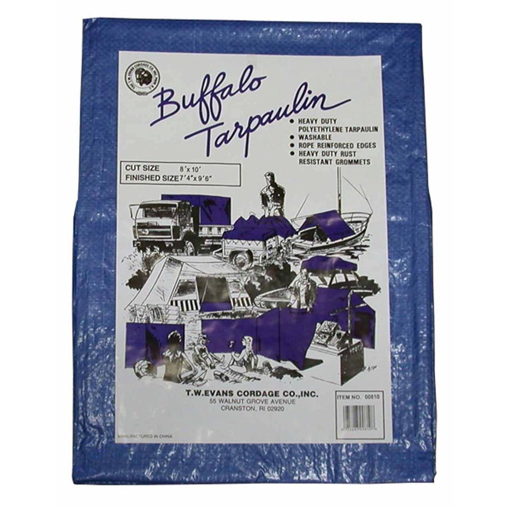 15 ft x 25 ft buffalo blue poly tarp