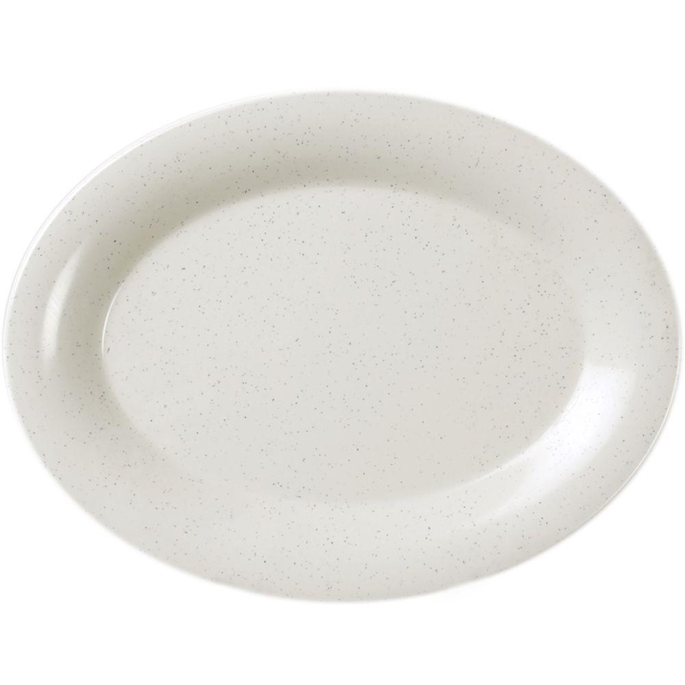 Restaurant Essentials Sandova 9-1/2 in. x 7-1/4 in. Platter (12-Piece)