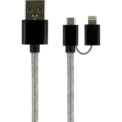 1 ft. 2-in-1 USB Micro Cable with Lightning Adapter