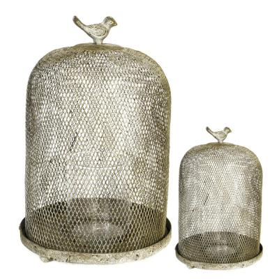 13 in. Ophira Sparrow Mesh Decorative Sculpture in Gold (2-Pack)