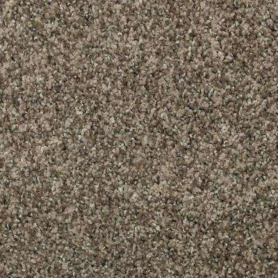 Carpet Sample - Barx I - Color Hushed Taupe Textured 8 in. x 8 in.