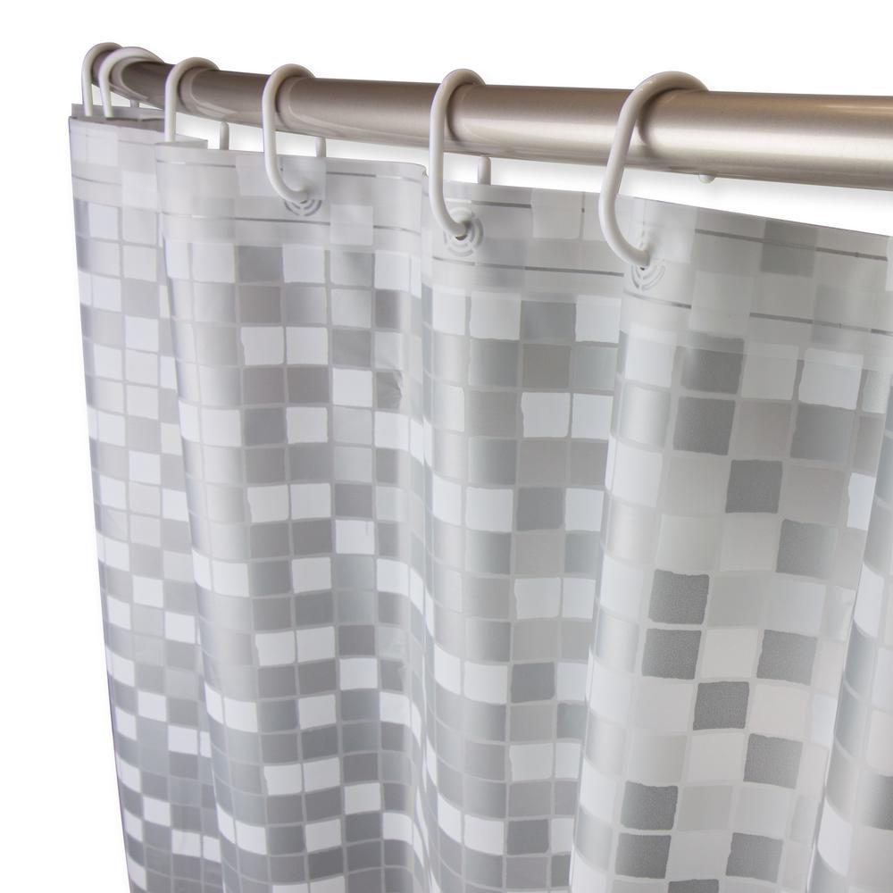 71 in. x 71 in. Digital Cube Shower Curtain