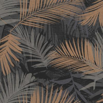 Jungle Glam Black and Copper Removable Wallpaper