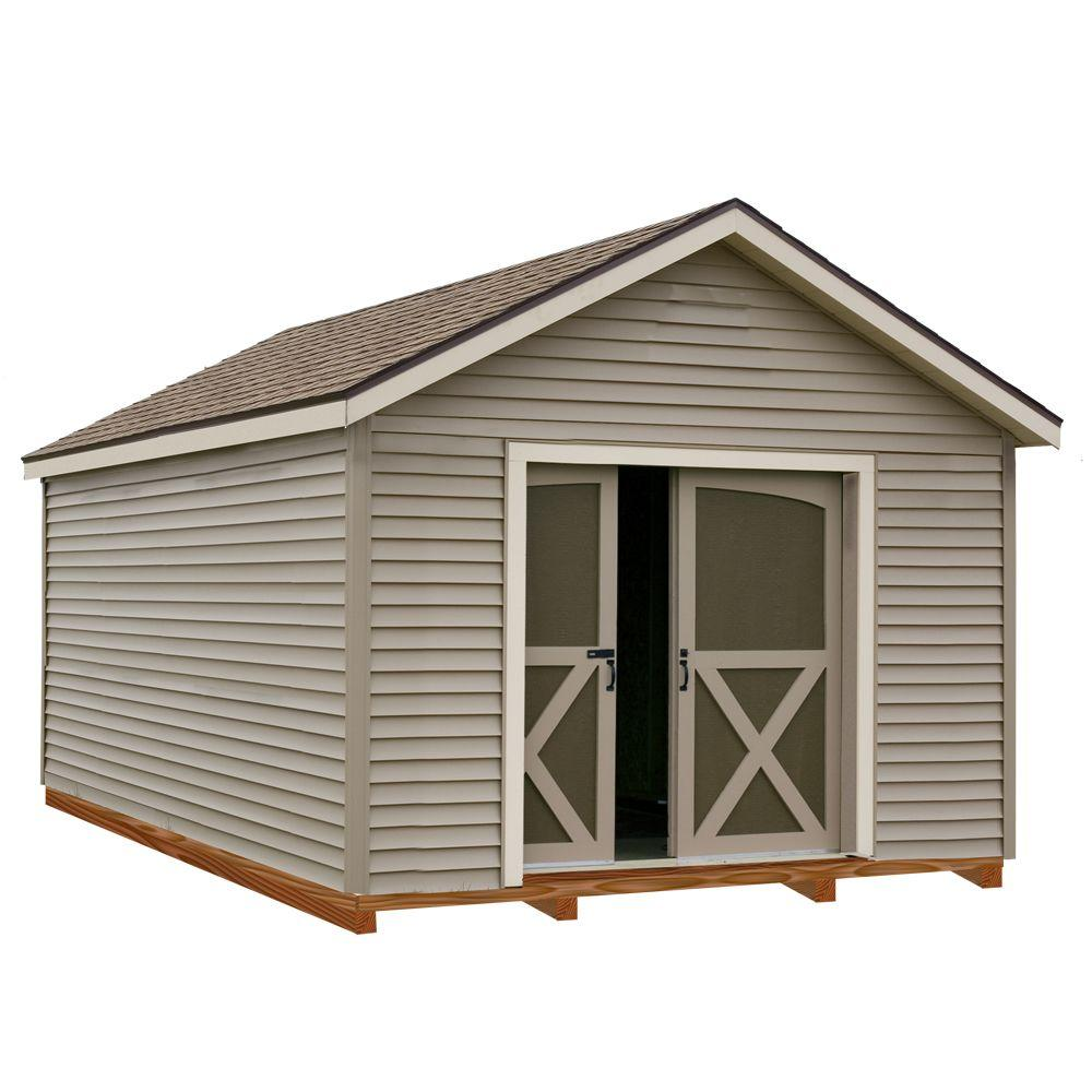 Best Barns South Dakota 12 ft. x 16 ft. Prepped for Vinyl Storage Shed Kit with Floor Including 4 x 4 Runners