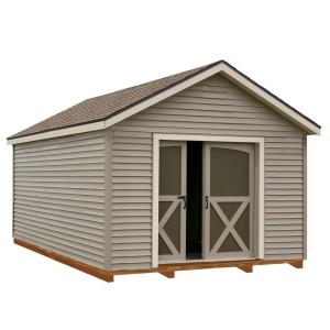 Best Barns South Dakota 12 ft. x 20 ft. Prepped for Vinyl Storage Shed Kit with Floor Including 4 x 4 Runners by Best Barns