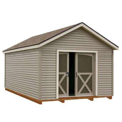 South Dakota 12 ft. x 20 ft. Prepped for Vinyl Storage Shed Kit with Floor Including 4 x 4 Runners
