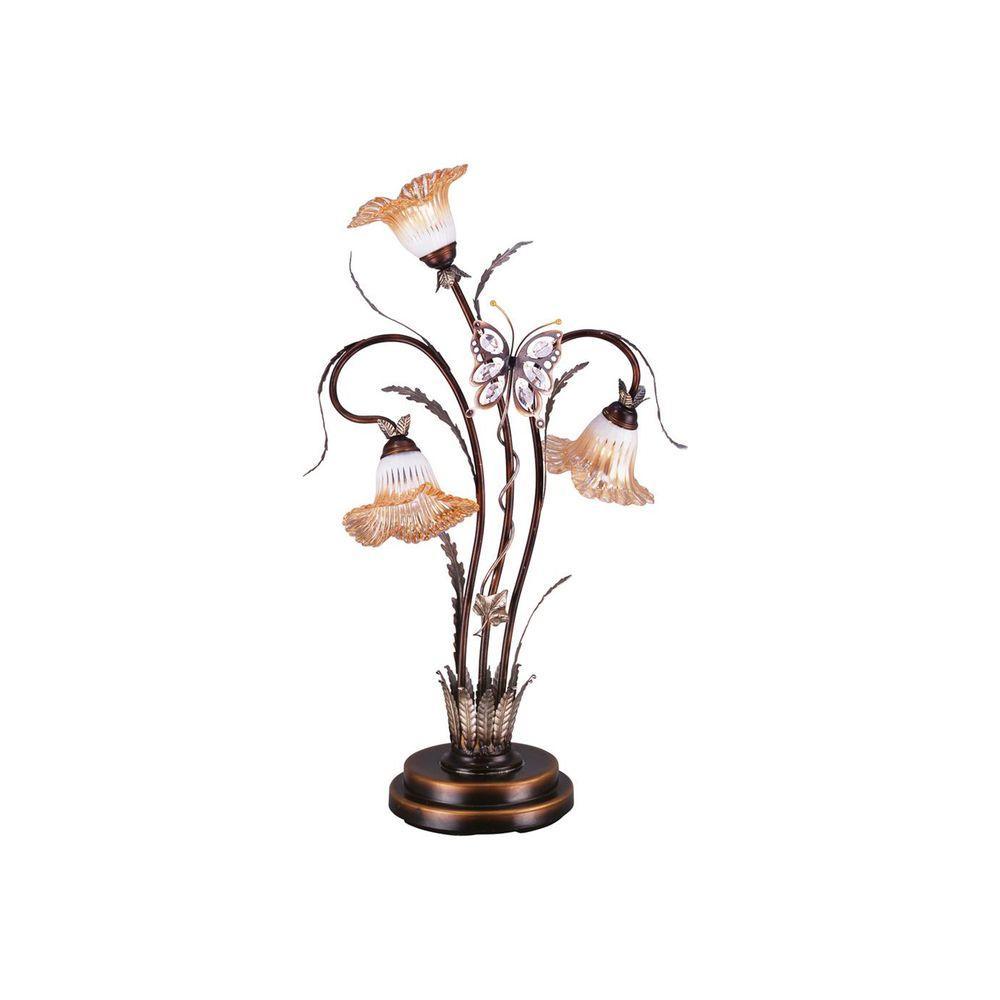 OK LIGHTING 38 in. Bronze Table Lamp
